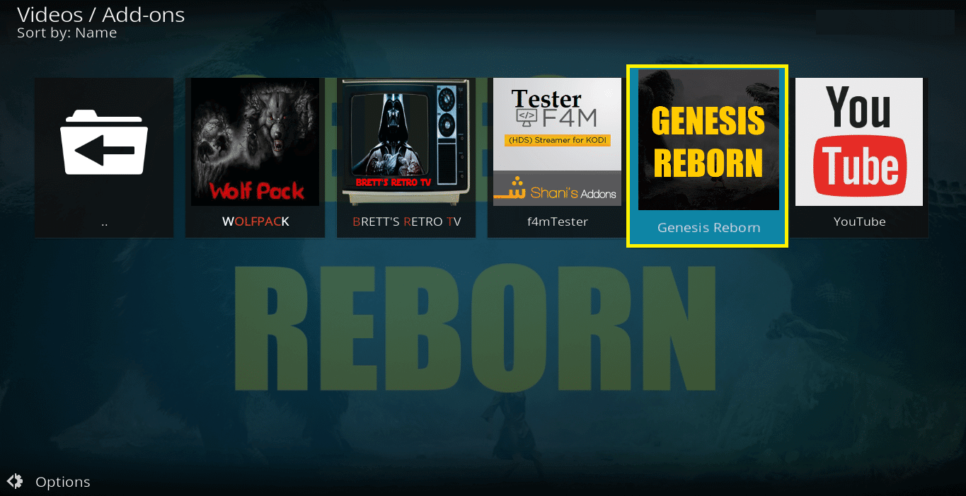How to Install Genesis Reborn Kodi addon on Krypton
