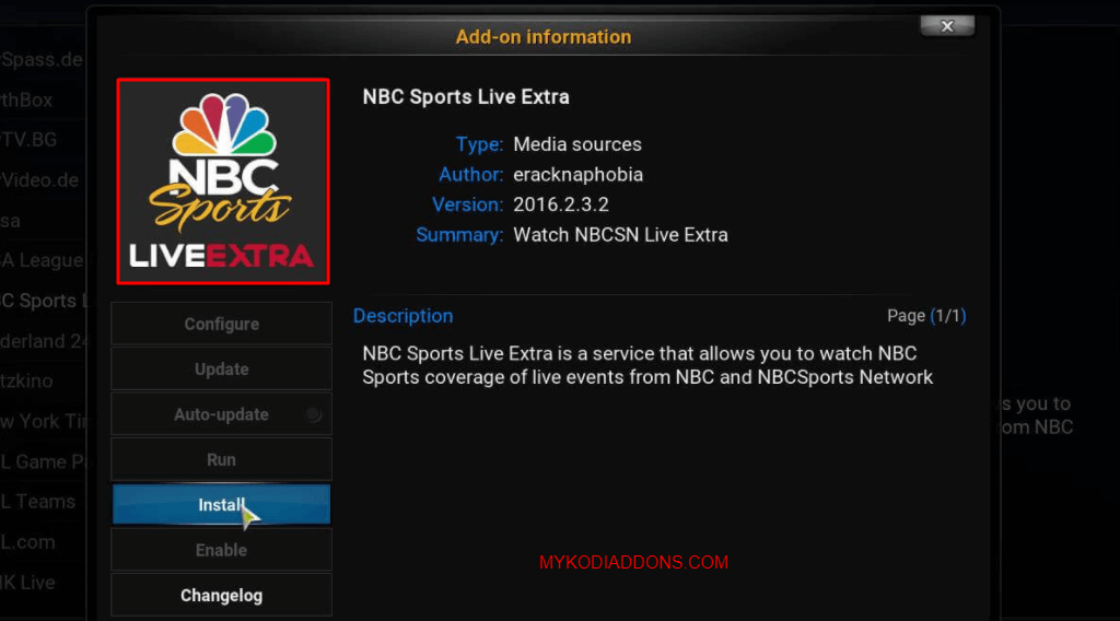 How to Install NBC Sports Live Extra Kodi addon from eracknaphobia Repo