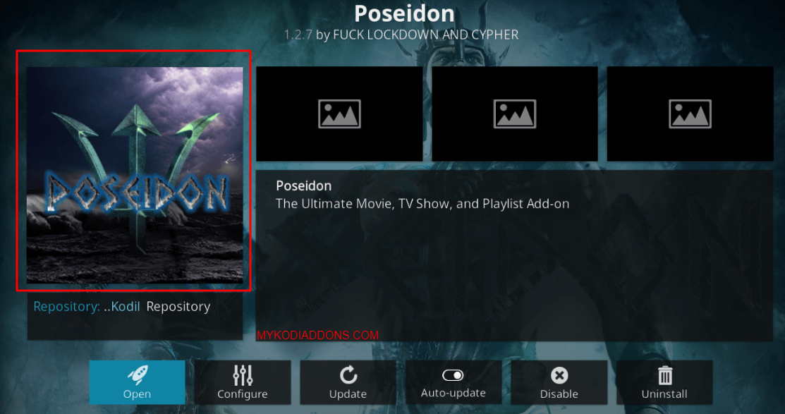 How to Install Poseidon Kodi addon on Krypton and Firestick