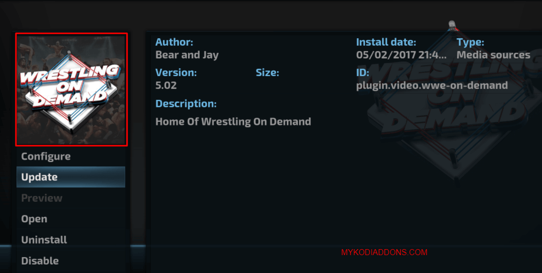 How to Install Wrestling on Demand Kodi addon on Krypton and Firestick