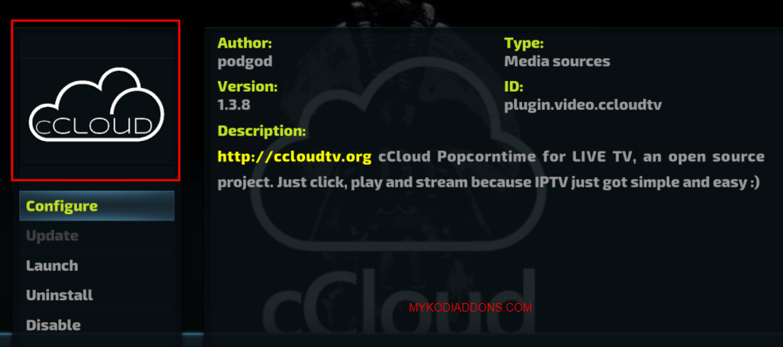 How to Install cCloud TV Kodi addon on Krypton and Firestick