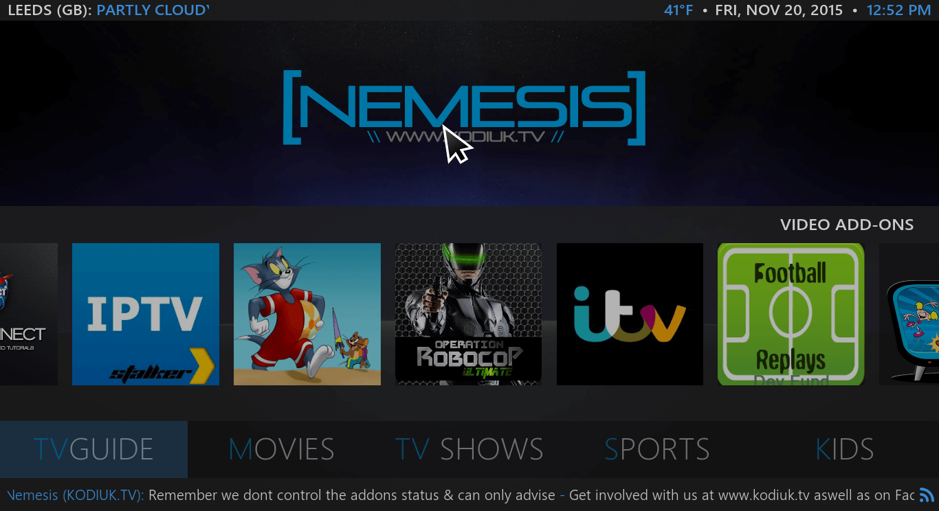 Nemesis Kodi Build