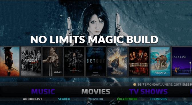 No Limits Magic Build for Kodi Leia