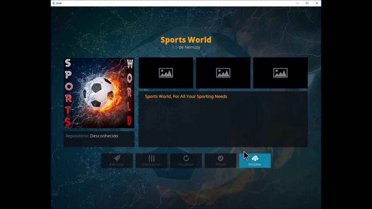 how to download sports world kodi