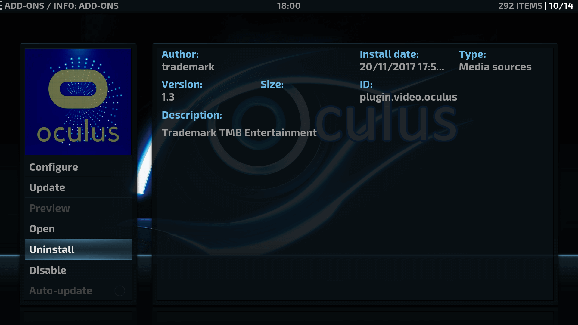 How to Install Oculus Kodi addon on krypton