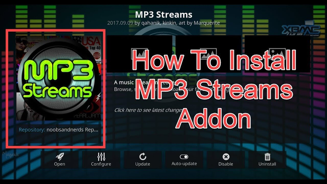 How to install MP3 Streams Kodi addon on krypton