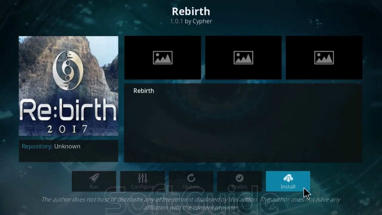 How to install Rebirth 2017 Kodi addon on krypton
