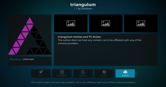 How to Install Triangulum Kodi addon on Krypton 17.