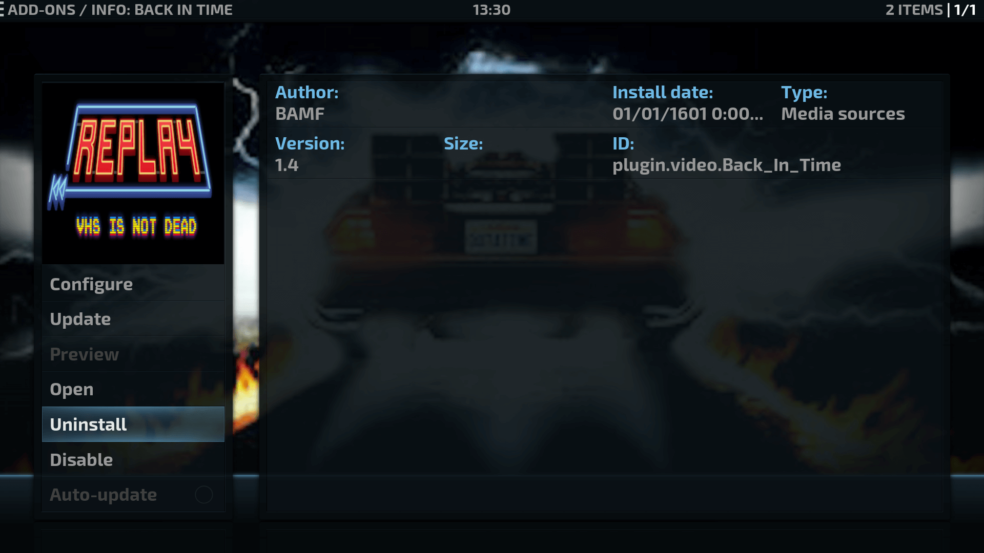 How to Install Back in Time Kodi Addon on Krypton