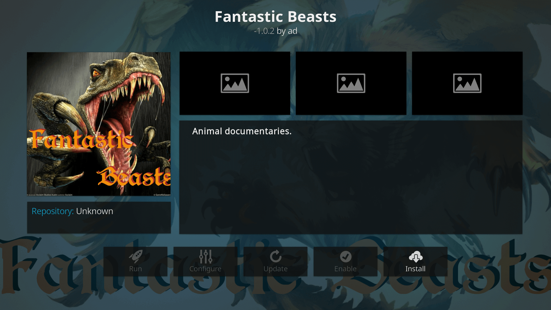 How to Install Fantastic Beasts Kodi addon on Krypton
