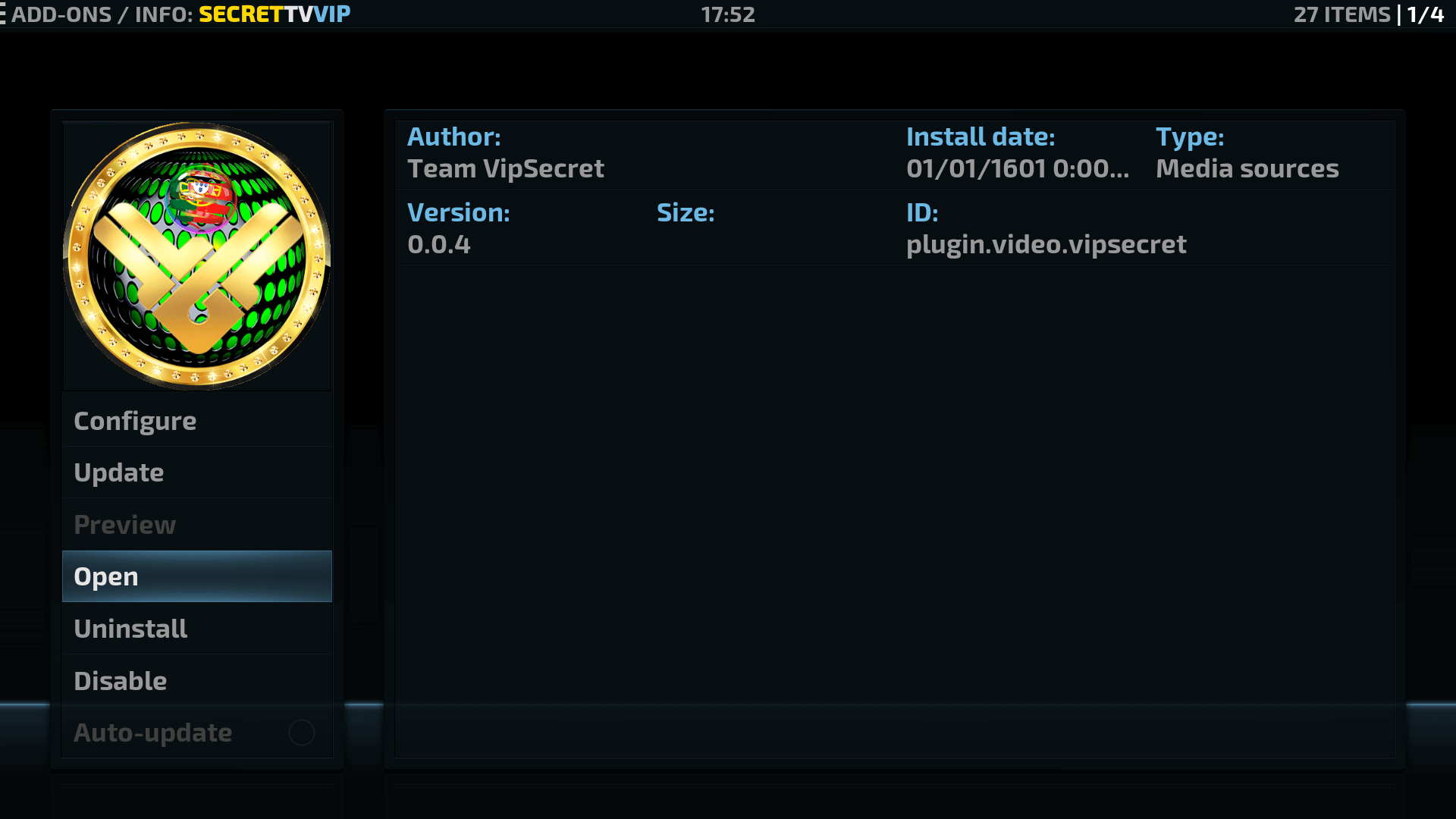 How to Install Secret TV VIP Kodi Addon on Krypton