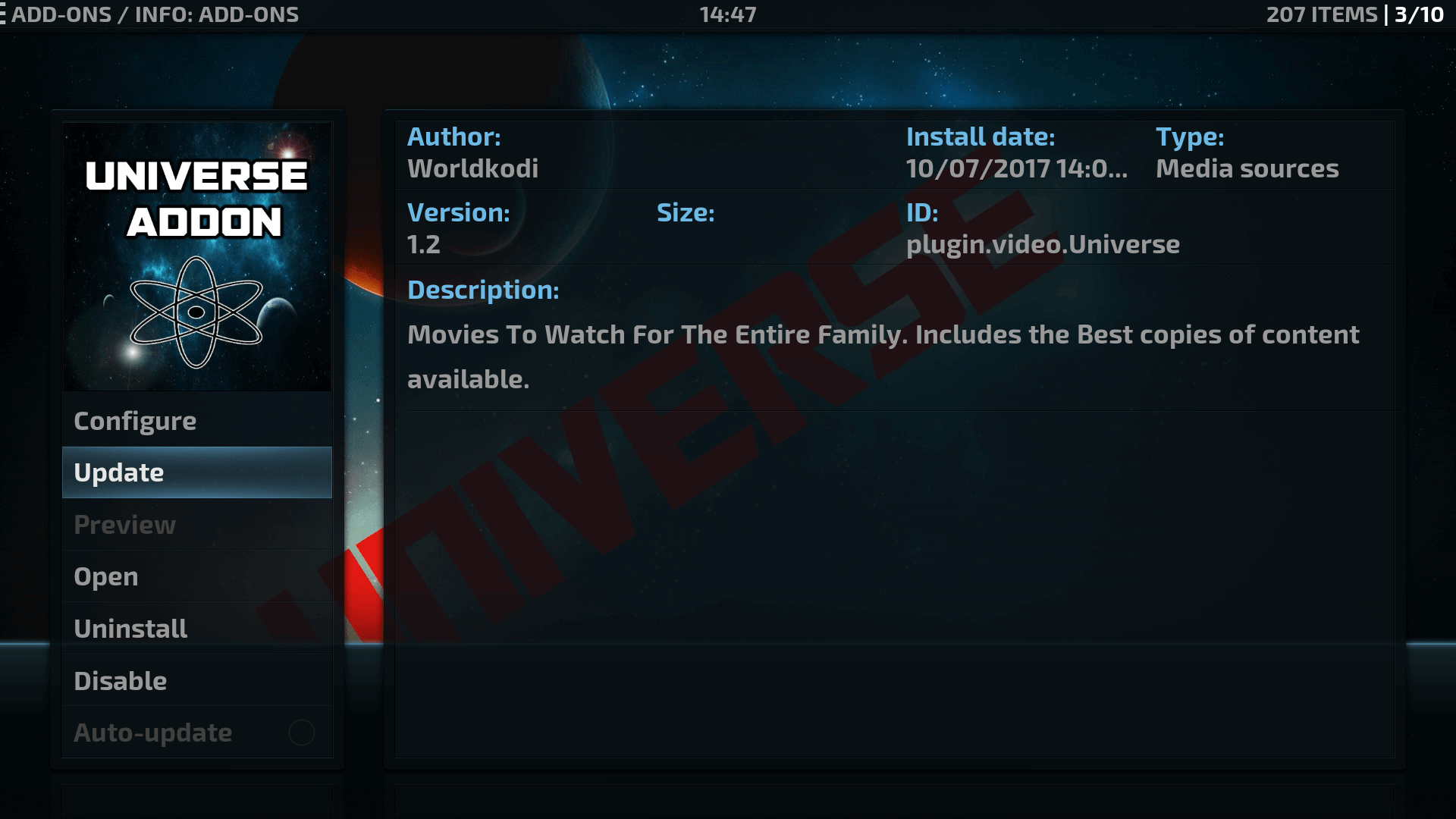 How to Install Universe Kodi addon on Krypton