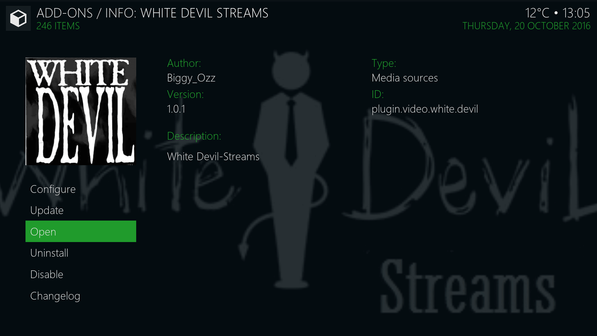 How to Install White Devil Streams Kodi addon on Krypton