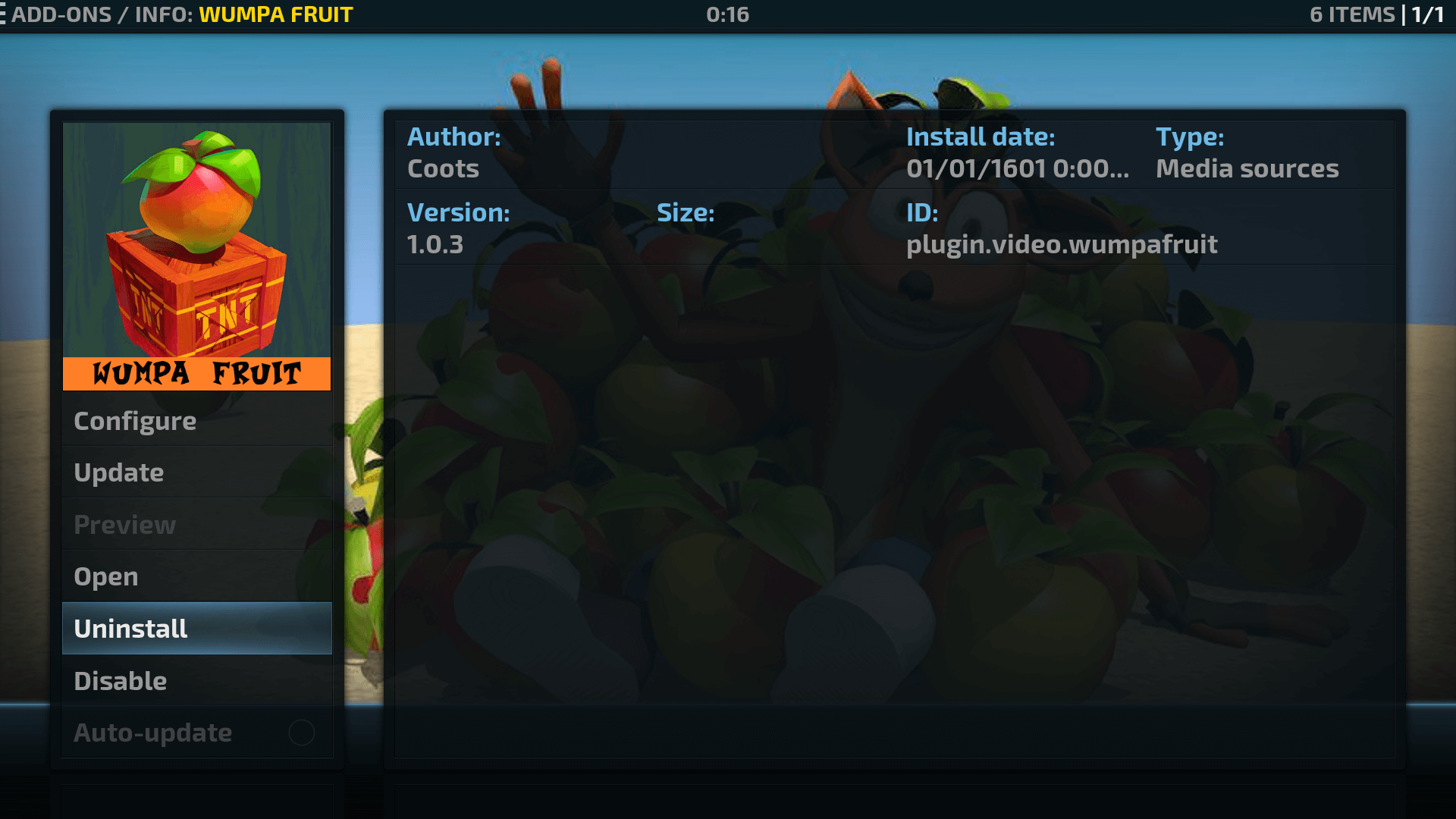 How to Install Wumpa Fruit Kodi addon on Krypton