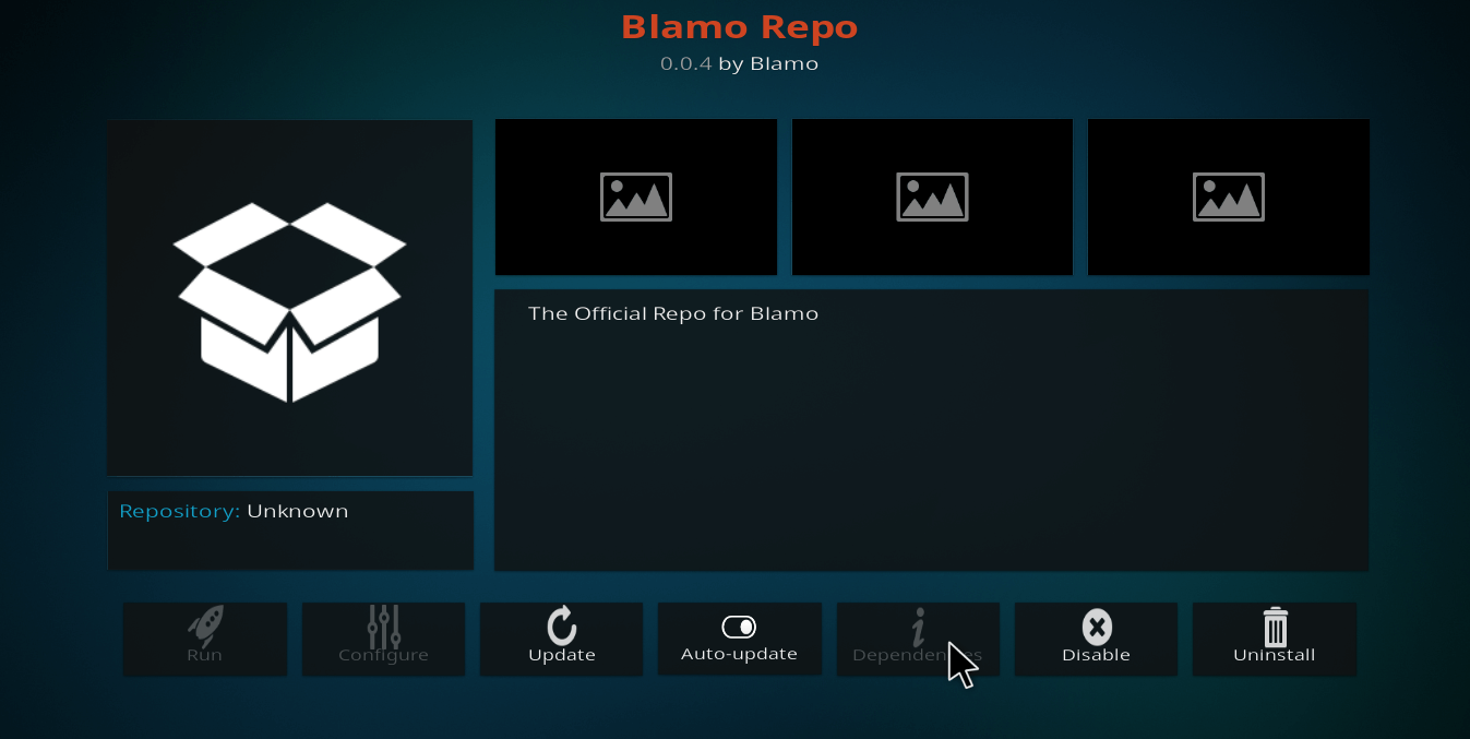 How to Install Blamo Repository on Kodi