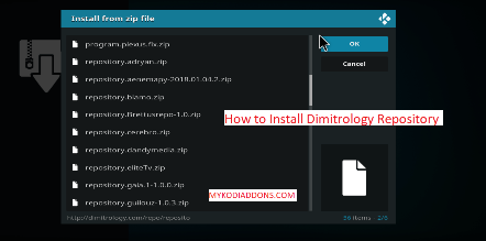 How to Install Dimitrology Repository on Kodi