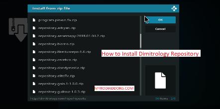 How to Install Dimitrology Repository on Kodi
