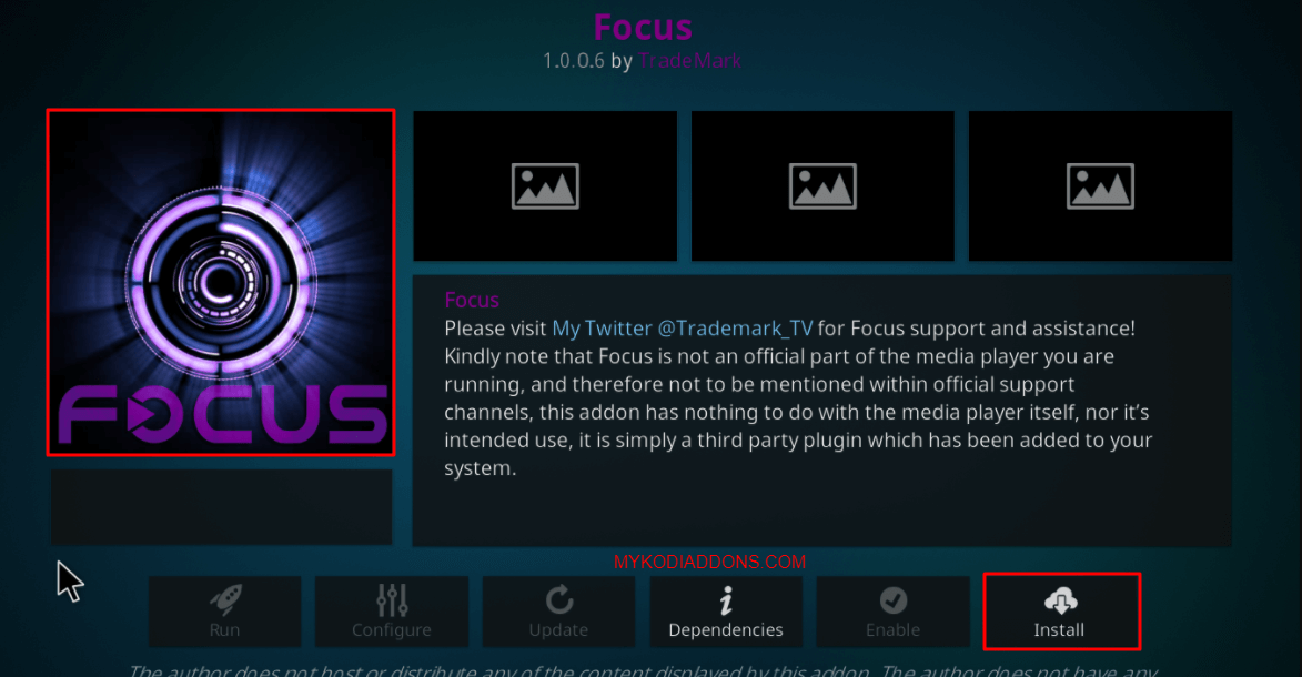 How to Install Focus Kodi addon on Krypton and Firestick