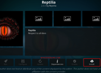 How to Install Reptilia Kodi addon on Krypton & firestick