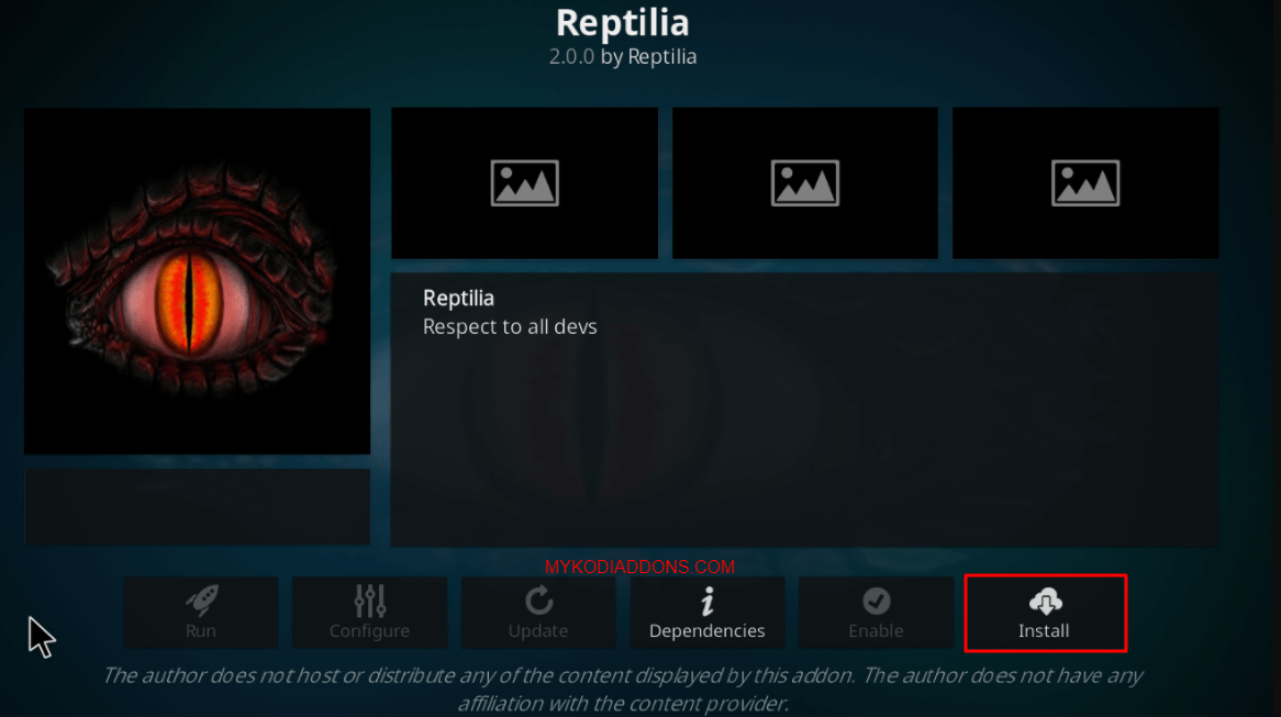 How to Install Reptilia Kodi addon on Krypton & firestick