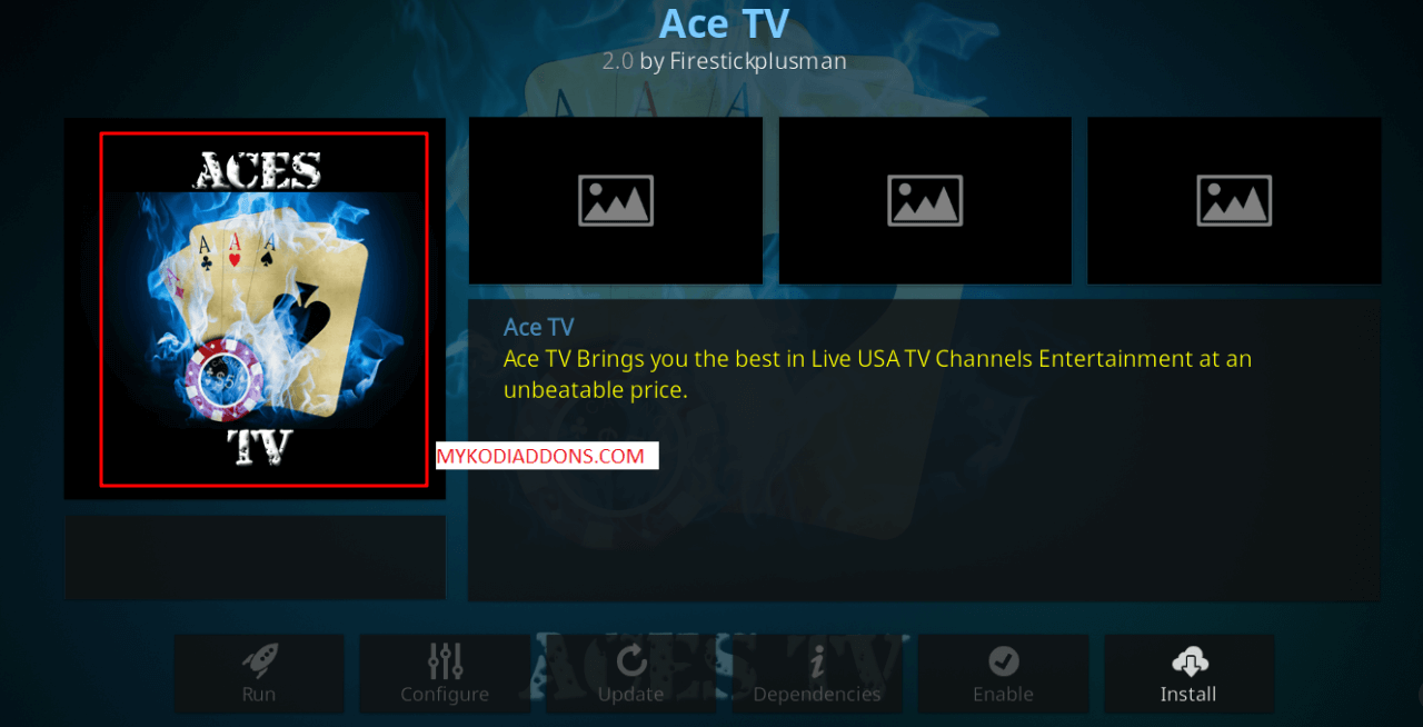How to Install Ace TV Kodi Addon on Krypton
