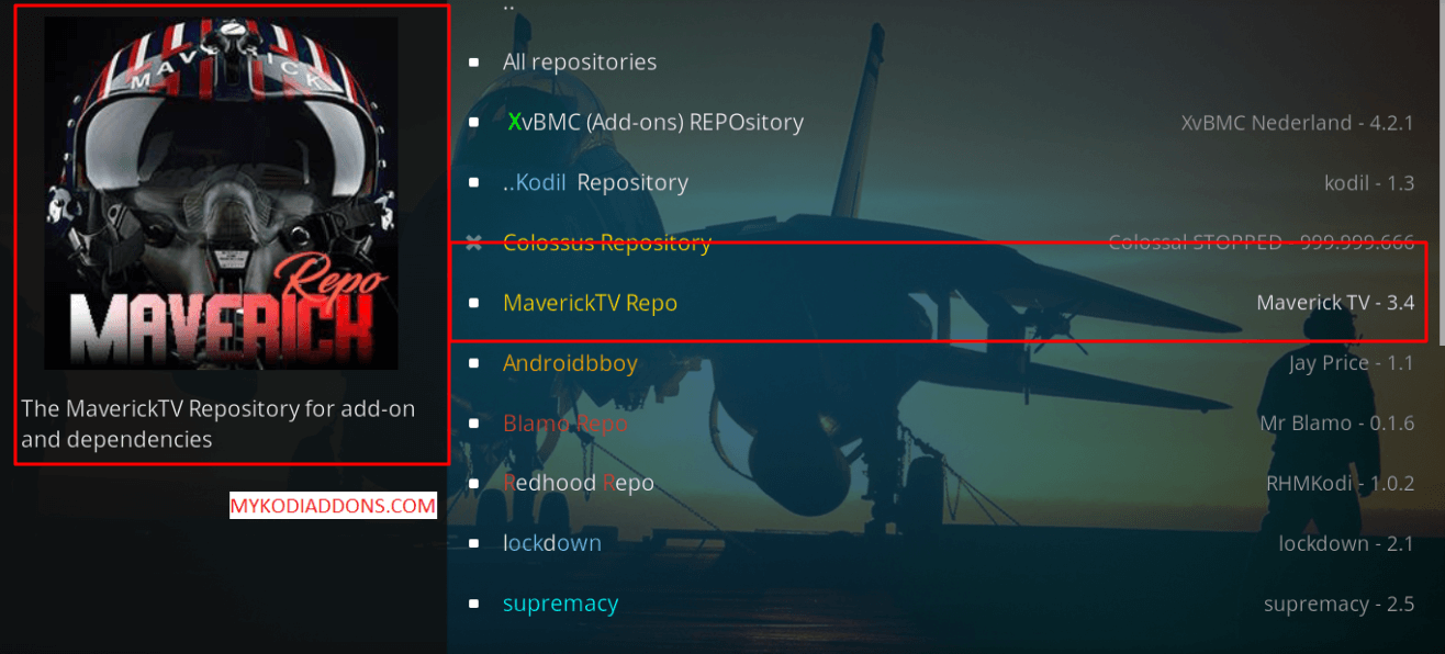 How to Install Maverick TV Repository on Kodi 2018