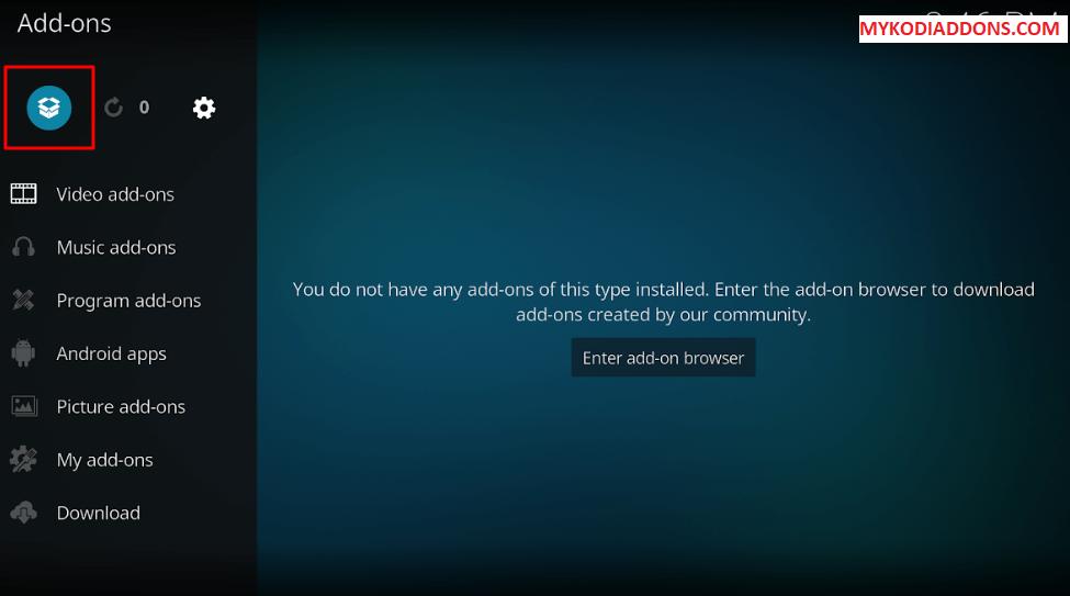 Select open Box type icon