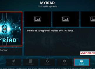 How to Install Myriad Kodi addon on Krypton