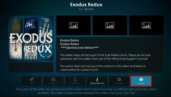 How to Install Exodus Redux Kodi on Firestick / Leia 18 3