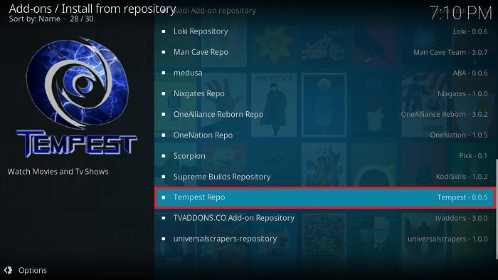 Click Tempest Repo