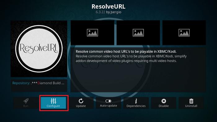 Configure ResolveURL