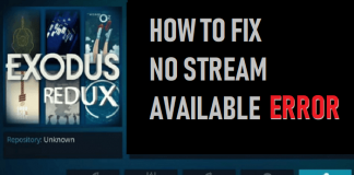 How to Fix No Stream Available Error