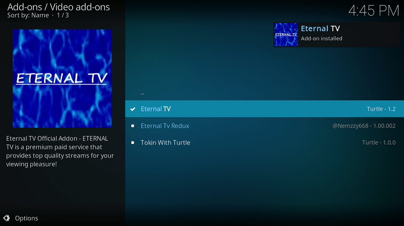How to Install Eternal TV Kodi Addon on Leia