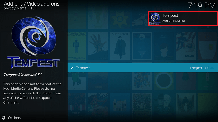How to Install Tempest on Kodi