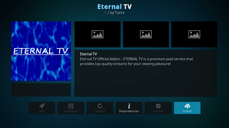 Eternal TV IPTV APK for Firestick & Install on Kodi Leia