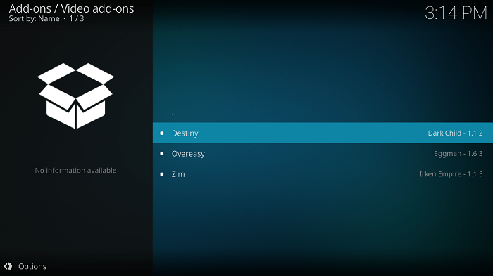 Select Destiny Kodi Addon