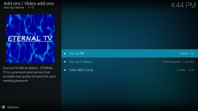Select Eternal TV Addon