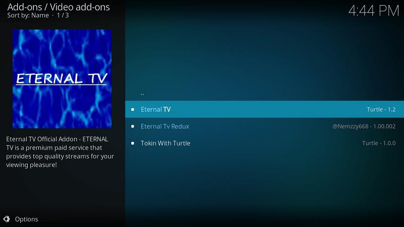 Select Eternal TV Addon