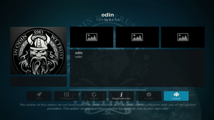 How to Install Odin Kodi Addon on Leia