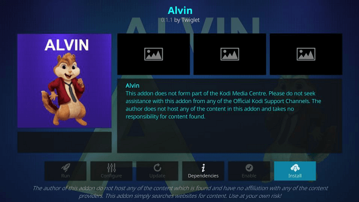How to Install Alvin Kodi Addon