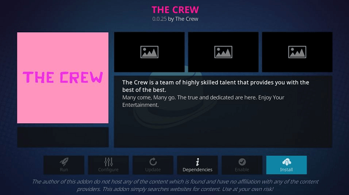 How to Install The Crew Kodi Addon on Leia