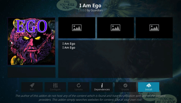 I Am Ego Kodi Addon