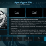How to Install Apocalypse 720 Kodi Addon