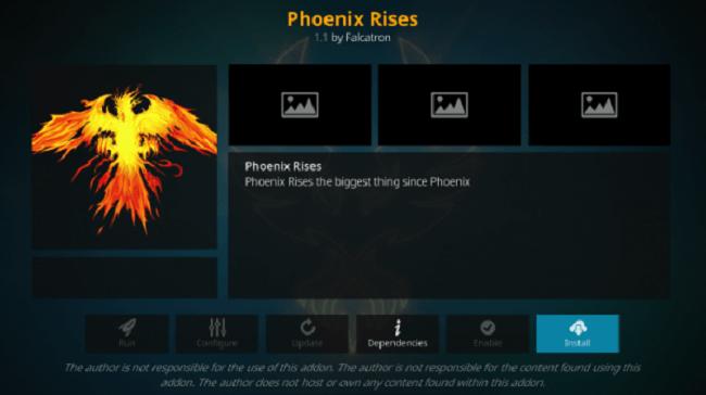 Phoenix Rises Kodi Addon